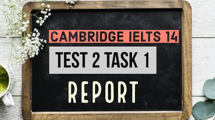 IELTS Cambridge 14 Test 2 Task 1