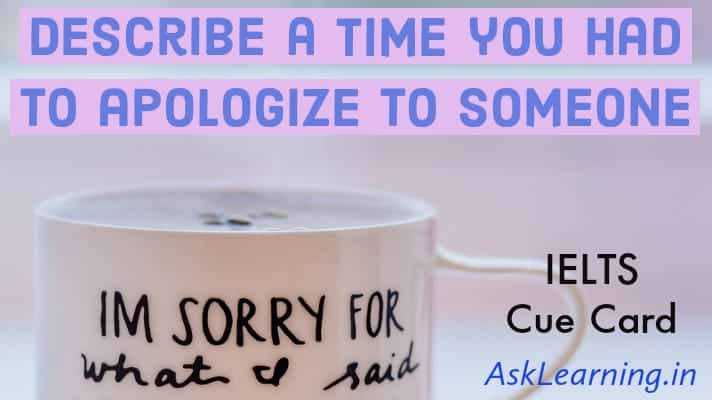 A time you had to apologize to someone