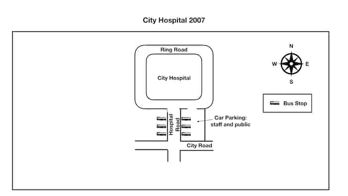 IELTS Cambridge 13 Test 1 Task 1 City hospital 2007